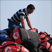 Kewal from Summit Trekking arranges the bags