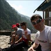Getting some rest after 2h of trekking