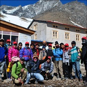 Trek C setting off from Lobuche