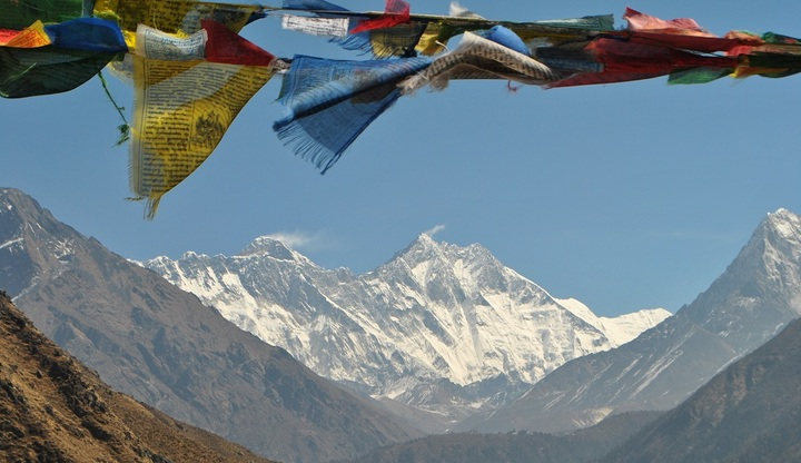View of Everest from Namche