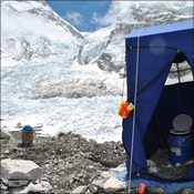 Our toilet fascilities at Base Camp