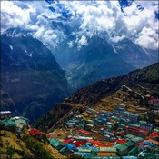 Namche Bazaar from above