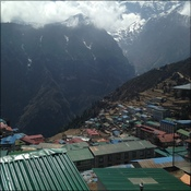 View over Namche
