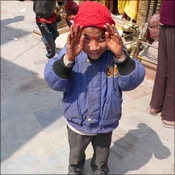 Nepalese boy in Durbar Square