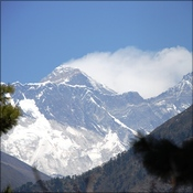 Everest and Lhotse from Namche Hill