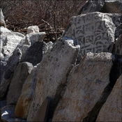 Mani stones in a row