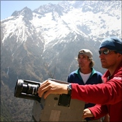 Michael and Jack outside Namche