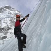 First attempt at Ice Climbing - EBC