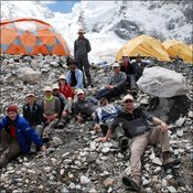 Trek K arriving at Base Camp