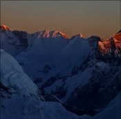 Sunset over Cho Oyu from 3