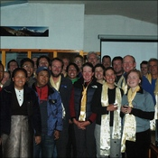 Namche youth group with CXE team members